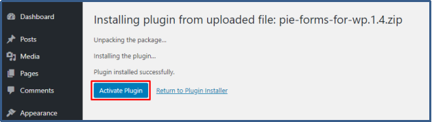 Activate plugin manually