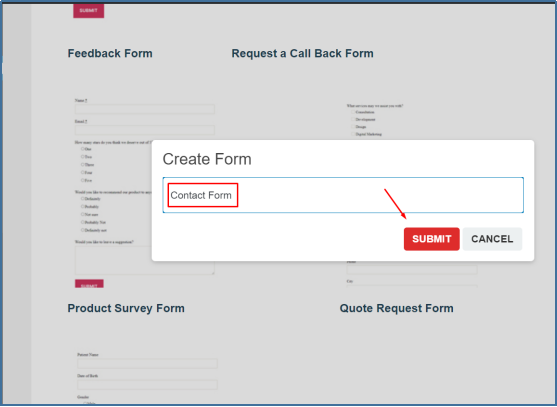 add a form name
