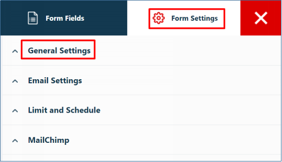 Builder General Settings