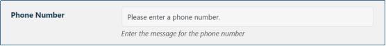 Phone Number Message