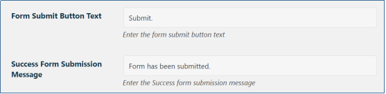 Submission Message